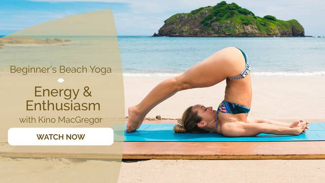 thumbnail image for Beginner's Beach Yoga - Energy & Enthusiasm