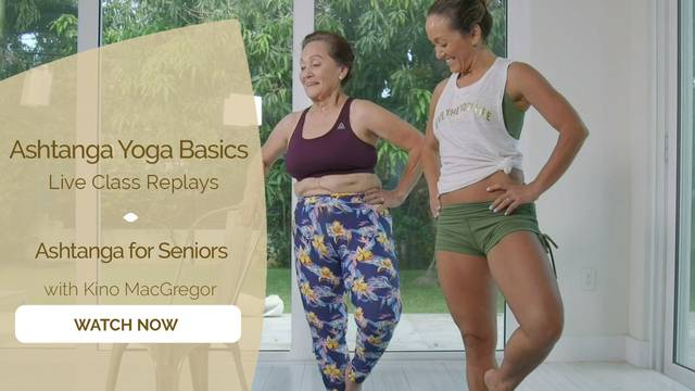 thumbnail image for Ashtanga for Seniors with Kino MacGregor