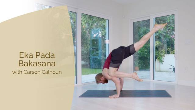 thumbnail image for Eka Pada Bakasana with Carson