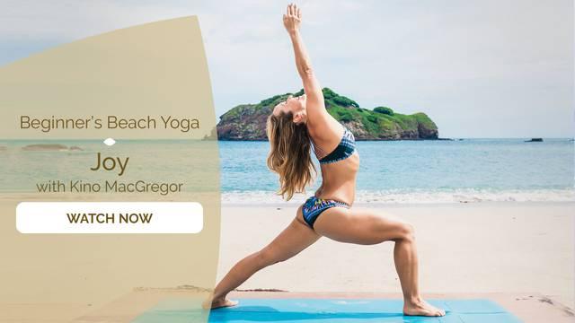 thumbnail image for Beginner Beach Yoga - Joy