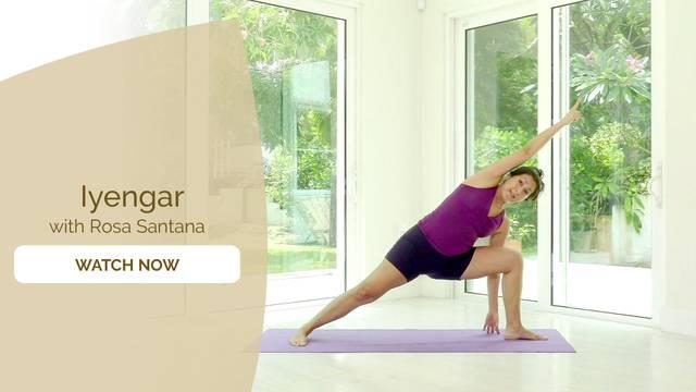 thumbnail image for Iyengar Yoga for All Levels with Rosa Santana