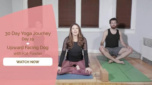 thumbnail image for Day 19 Upward Facing Dog - Kat Fowler