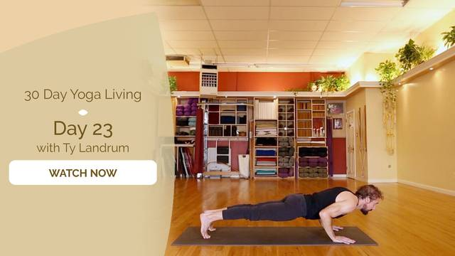 thumbnail image for Day 23 Chaturanga Dandasana - Ty Landrum