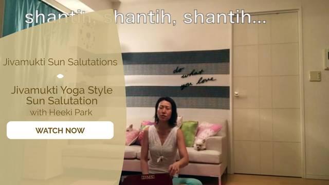 thumbnail image for Jivamukti Yoga Style Sun Salutation