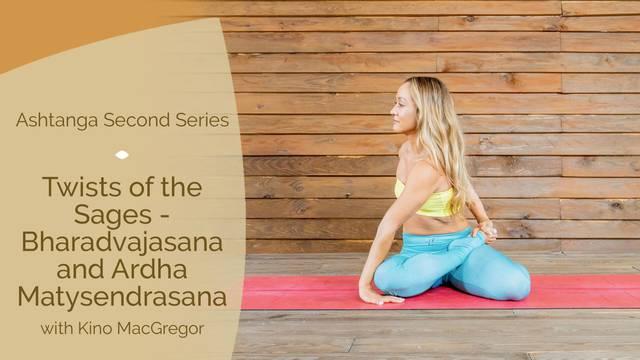 thumbnail image for Twists of the Sages — Bharadvajasana and Ardha Matysendrasana