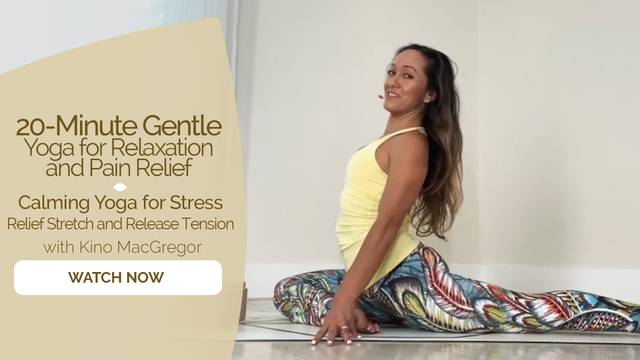 thumbnail image for Calming Yoga for Stress Relief Stretch and Release Tension