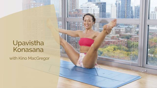 thumbnail image for Upavistha Konasana - Wide Angle Seated Forward Bend with Kino