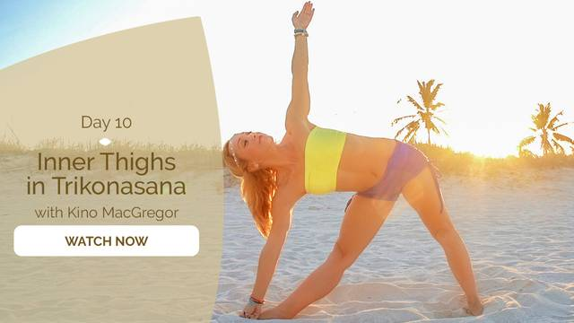 thumbnail image for Day 10: Inner Thighs in Trikonasana