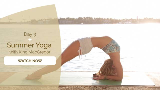 thumbnail image for Summer Yoga Class with Kino