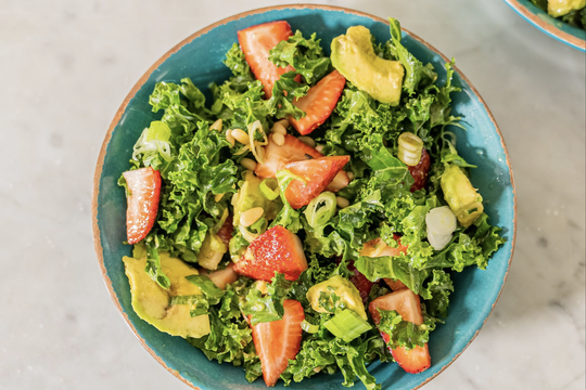 thumbnail image for Kale and Strawberry Salad