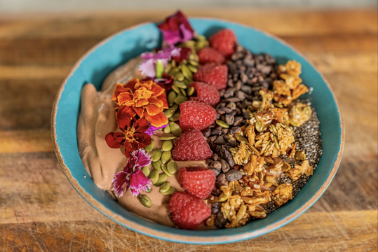thumbnail image for Chocolate and Raspberry Smoothie Bowl