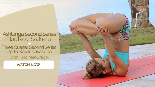 thumbnail image for Three Quarter Second Series (Up to Karandavasana)