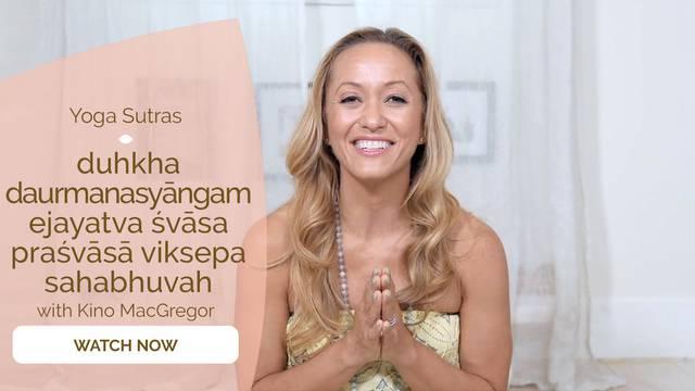 thumbnail image for I.31 duhkha daurmanasyāngam ejayatva śvāsa praśvāsā viksepa sahabhuvah