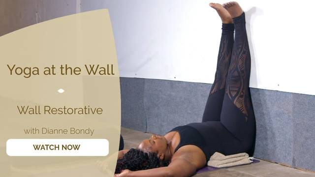 thumbnail image for Yoga at the Wall Restorative