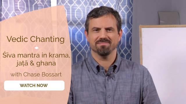 thumbnail image for śīva mantra in krama, jaṭā & ghana