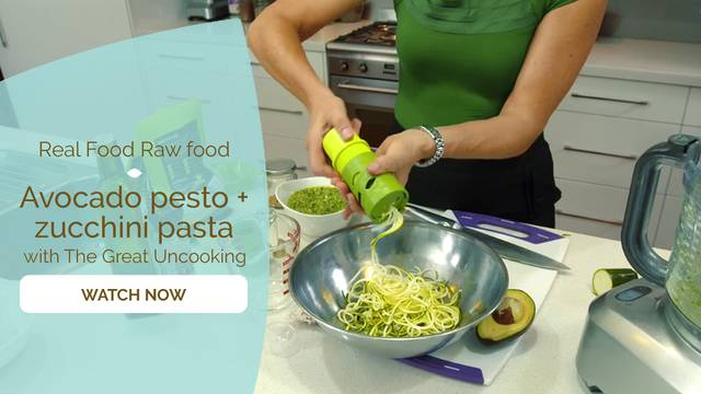 thumbnail image for Avocado Pesto + Zucchini Pasta