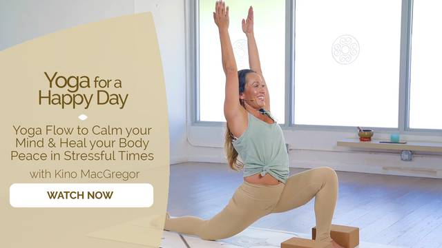 thumbnail image for Yoga Flow to Calm your Mind and Heal your Body, Peace in Stressful Times