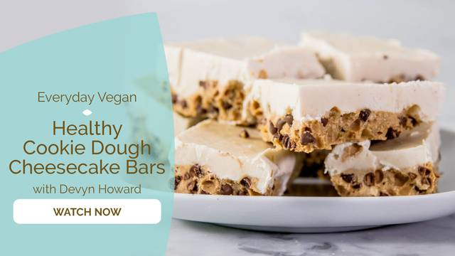 thumbnail image for Healthy Cookie Dough Cheesecake Bars