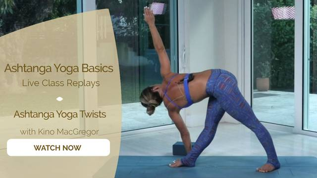 thumbnail image for Ashtanga Yoga Twists with Kino MacGregor