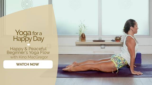 thumbnail image for Happy and Peaceful Beginners Yoga Flow