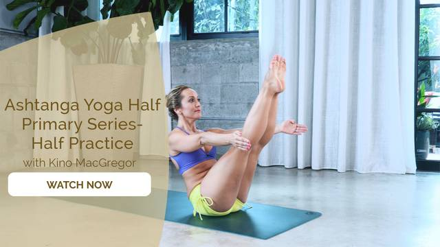 thumbnail image for Ashtanga Half Primary Series with Kino