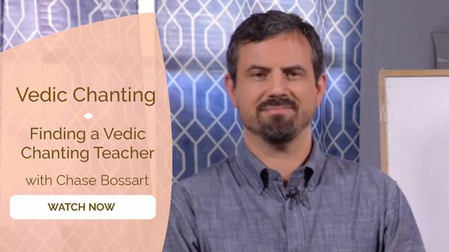 thumbnail image for Finding a Vedic Chanting Teacher