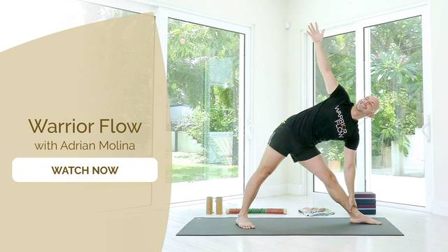 thumbnail image for Warrior Flow Yoga with Adrian Molina