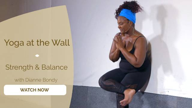 thumbnail image for Yoga at the Wall for Strength and Balance