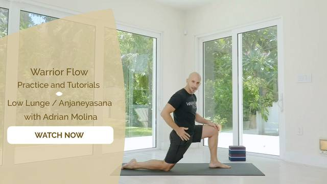 thumbnail image for Low Lunge - Anjaneyasana with Adrian Molina