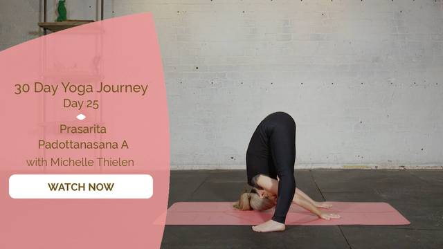 thumbnail image for Day 25 Prasarita Padottanasana A - Michelle Thielen