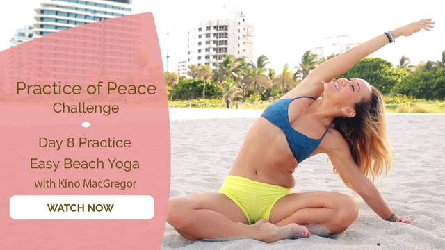 thumbnail image for Day 8 Practice: Easy Beach Yoga