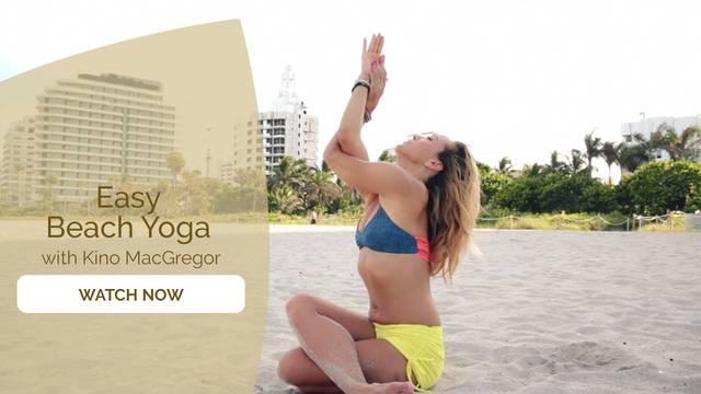 thumbnail image for Easy Beach Yoga with Kino
