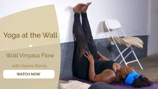 thumbnail image for Yoga at the Wall Vinyasa Flow