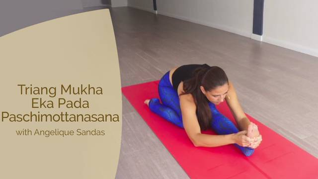 thumbnail image for Triang Mukha Eka Pada Paschimottanasana with Angelique