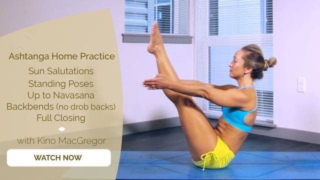 thumbnail image for 5. Sun Salutations + Standing Poses + Up to Navasana + Backbends (no drop backs) + Full Closing