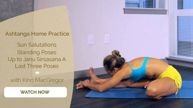 thumbnail image for 4. Sun Salutations + Standing Poses + Up to Janu Sirsasana A + Last Three Poses