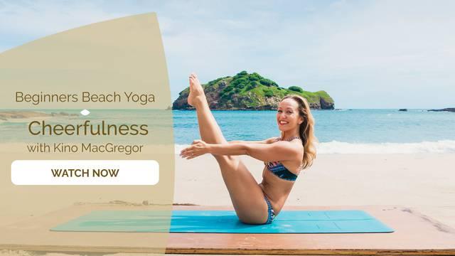 thumbnail image for Beginner's Beach Yoga - Cheerfulness