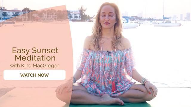 thumbnail image for Easy Sunset Meditation