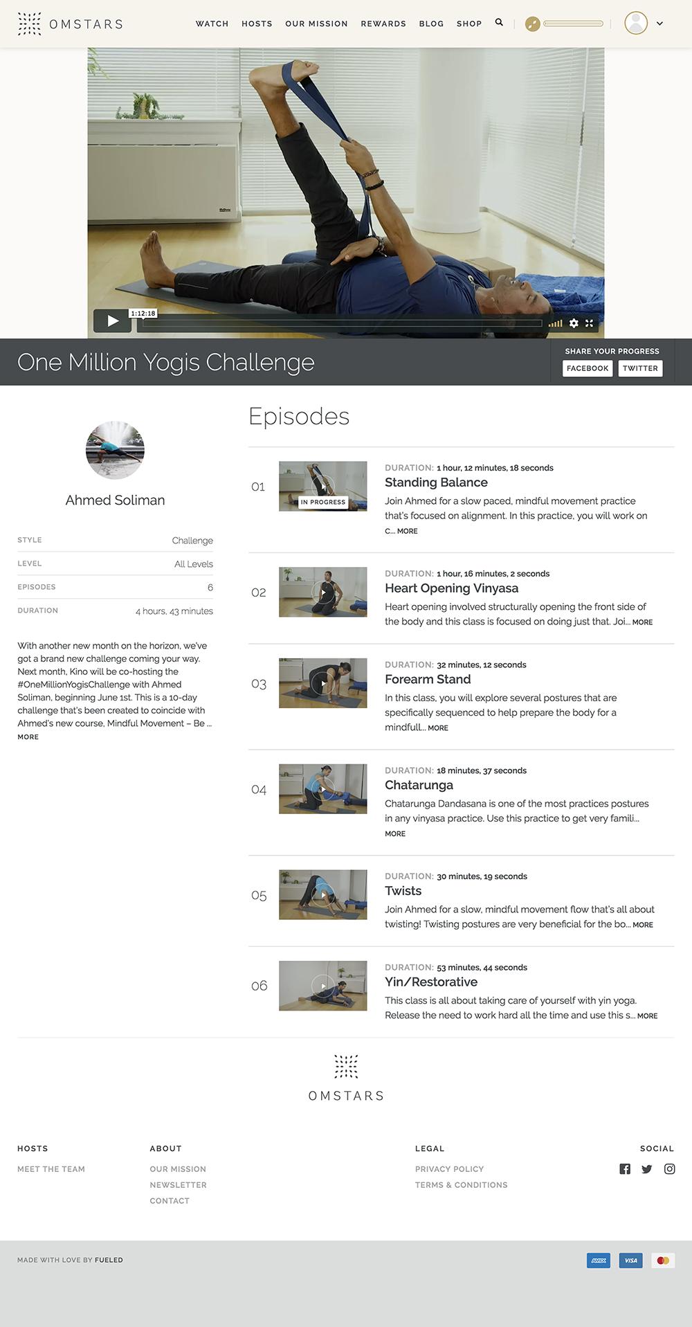 Screenshot of One Million Yogis Challenge